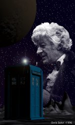 [IMAGE: Tribute to Pertwee - © Chris Sutor used with permission]